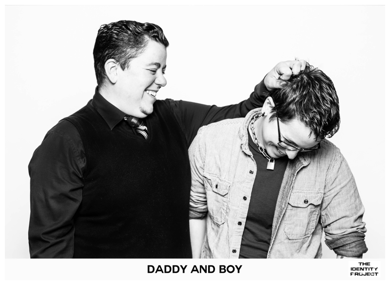 """The Identity Project: """"Butch daddy poet"""" and """"Genderqueer leather boy"""""""