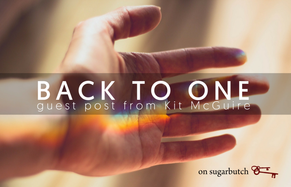 Back to One, Guest Post from Kit McGuire