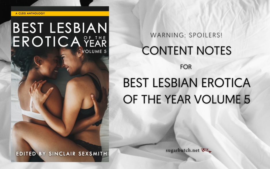Content Notes for Best Lesbian Erotica of the Year Volume 5 (Warning: Spoilers)